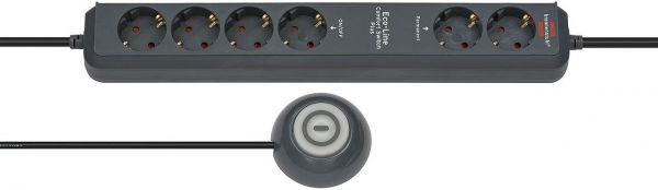 Eco Line Comfort Switch Plus Steckdosenleiste 6 fach schwarz