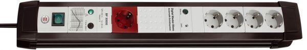 Brennenstuhl Premium Line Überspannungsschutz Automatiksteckdosenleiste 5 fach 1 Master 4 Slave