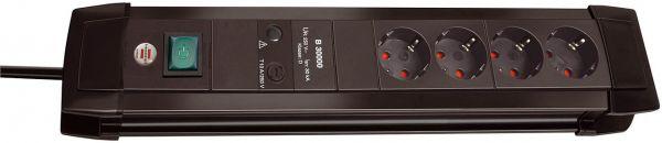 Brennenstuhl Premium Line Überspannungsschutz Steckdosenleiste 4 fach schwarz