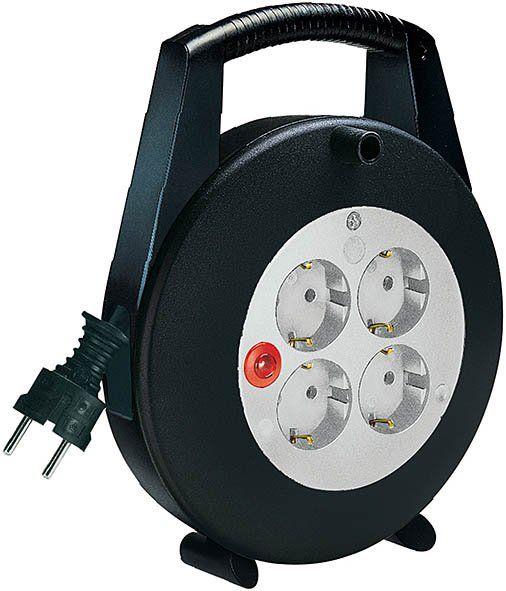 Vario Line Kabelbox 4-fach schwarz/lichtgrau 5m H05VV-F 3G1,5