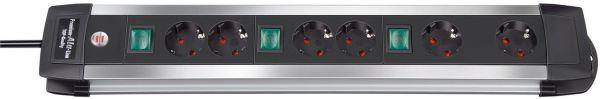Premium Alu Line Technik Steckdosenleiste 6 fach 2 fach Schaltbare Steckdosen