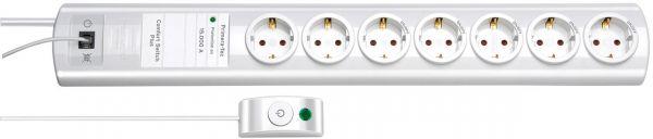 Brennenstuhl Primera Tec Comfort Switch PlusÜberspannungsschutz Steckdosenleiste 7 fach weiß 2 perm