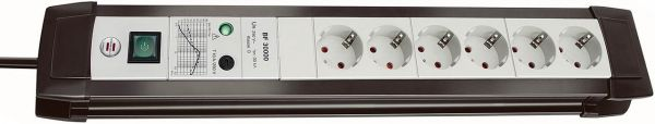 Brennenstuhl Premium Line Überspannungsschutz Steckdosenleiste 6 fach lichtgrau