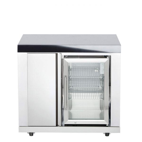 Modul 6 Schrank ( 3 Regalfächer) mit Einzelkühlschrank