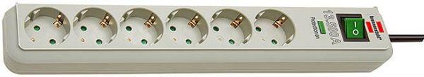 Eco Line Überspannungsschutz Steckdosenleiste 6 fach lichtgrau