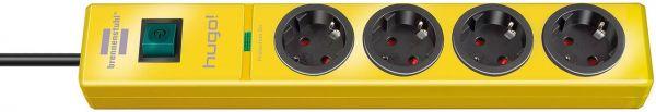 hugo! Überspannungsschutz-Steckdosenleiste 4-fach gelb