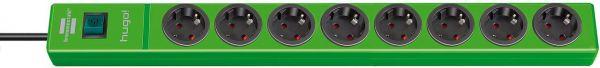 hugo! Steckdosenleiste 8 fach grün-Copy