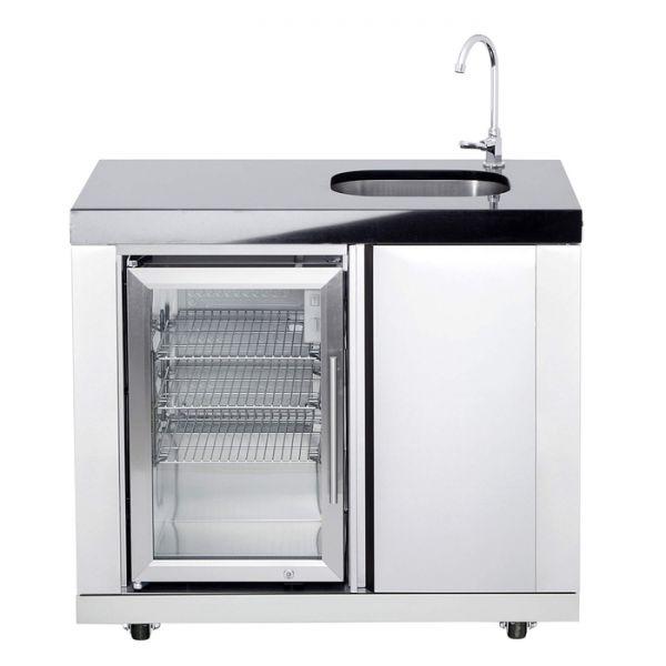 Modul 11 Waschbecken / Kühlschrank Kombi ( Becken rechts)