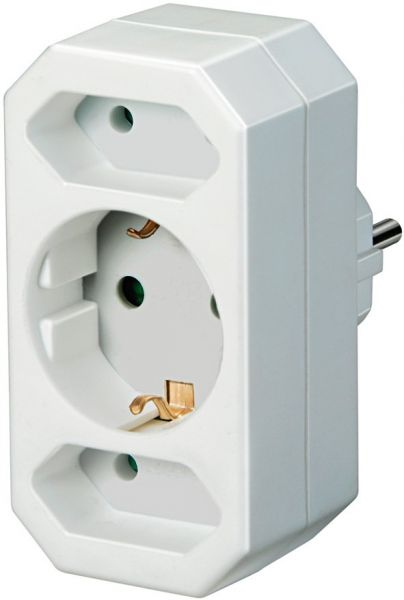 Adapterstecker Euro2 + Schutzkontakt 1