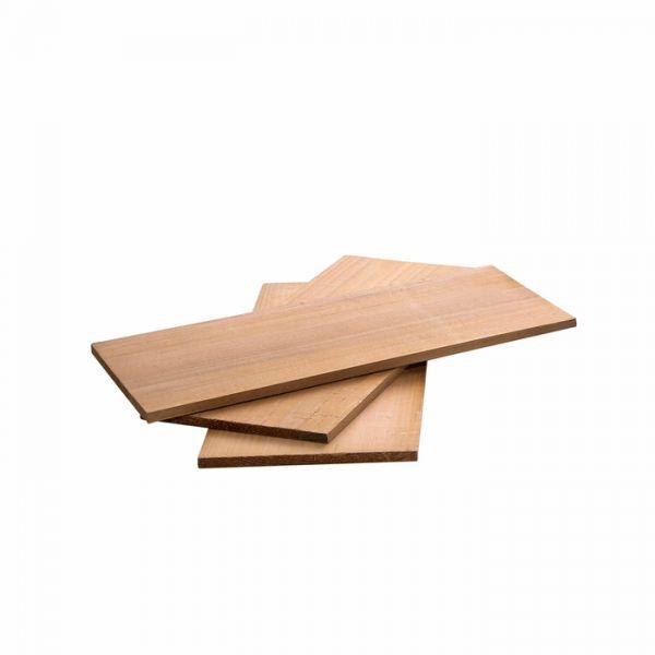 Zedernholzbretter-Set 3-tlg. je 30 x12 x 1 cm