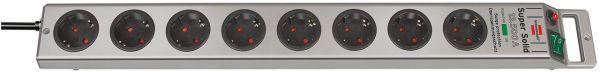 Brennenstuhl Super Solid Überspannungsschutz-Steckdosenleiste 8 fach silber