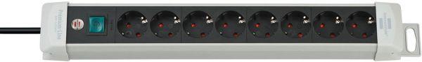 Premium Line Steckdosenleiste 8 fach lichtgrau/ schwarz