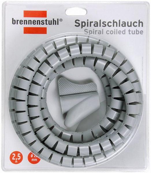 Spiralschlauch L = 2,5m; Ø = 20mm grau