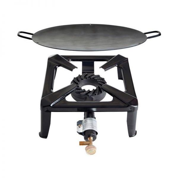 Hockerkocher 40 x 40 x 17 cm mit Eisen Wok/ Grill- Schale 70 cm