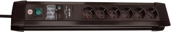 Brennenstuhl Premium Line Überspannungsschutz Steckdosenleiste 6 fach schwarz