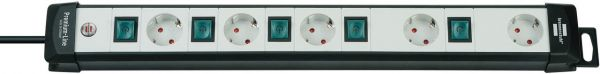 Premium Line Technik Steckdosenleiste 5 fach einzeln schaltbar