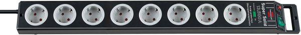 Brennenstuhl Super Solid Überspannungsschutz-Steckdosenleiste 8 fach schwarz/ lichtgrau