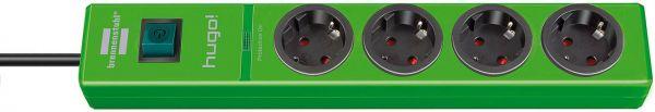 hugo! Überspannungsschutz-Steckdosenleiste 4-fach grün