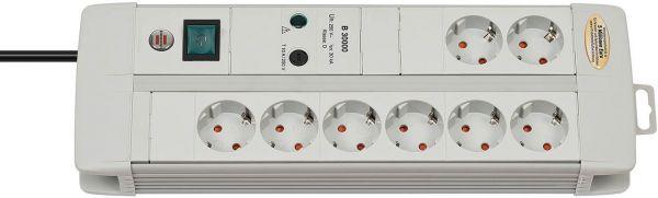 Brennenstuhl Premium Line Überspannungsschutz Steckdosenleiste 8 fach Duo lichtgrau