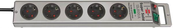 Brennenstuhl Super Solid Überspannungsschutz-Steckdosenleiste 5 fach silber